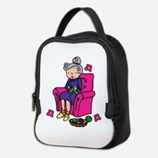 Knitting Grandma Neoprene Lunch Bag