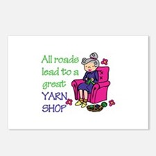 All roads are lead to a great yarn shop Postcards
