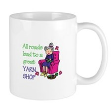 All roads are lead to a great yarn shop Mugs