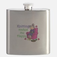 Knitting makes me happy Flask