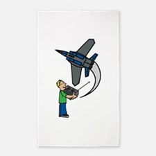 RC Airplane 3'x5' Area Rug