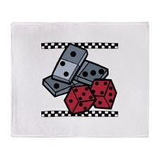 Dominos & Dice Throw Blanket