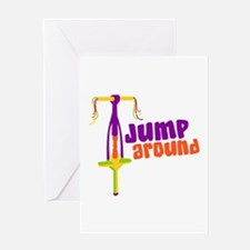 Jump Around Greeting Cards