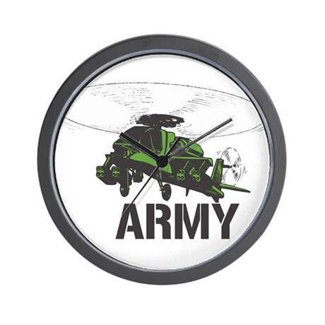 Army Helicopter Wall Clock
