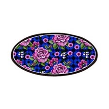 Pink Rose Tapestry Patches