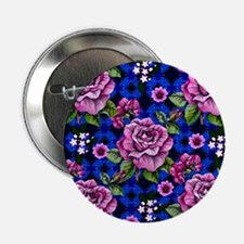 """Pink Rose Tapestry 2.25"""" Button"""