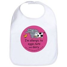 Eggs nuts & dairy-pink Bib