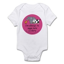 Eggs nuts & dairy-pink Infant Bodysuit