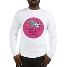 Eggs nuts & dairy-pink Long Sleeve T-Shirt