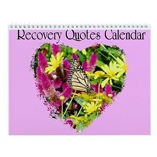 Butterfly Recovery Wall Calendar