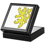 Heraldic Gold Lion Keepsake Box