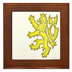 Heraldic Gold Lion Framed Tile
