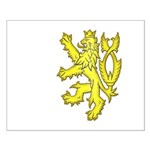 Heraldic Gold Lion Small Poster