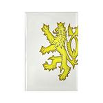 Heraldic Gold Lion Rectangle Magnet (10 pack)