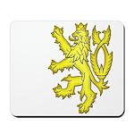Heraldic Gold Lion Mousepad