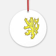 Heraldic Gold Lion Ornament (Round)