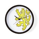 Heraldic Gold Lion Wall Clock
