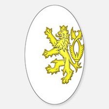 Heraldic Gold Lion Oval Decal