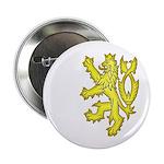 Heraldic Gold Lion Button