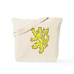 Heraldic Gold Lion Tote Bag