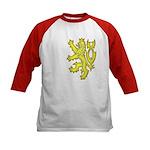 Heraldic Gold Lion Kids Baseball Jersey