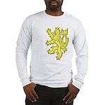 Heraldic Gold Lion Long Sleeve T-Shirt