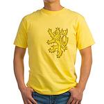 Heraldic Gold Lion Yellow T-Shirt