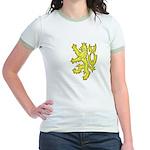Heraldic Gold Lion Jr. Ringer T-Shirt