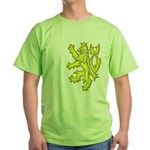 Heraldic Gold Lion Green T-Shirt