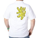 Heraldic Gold Lion Golf Shirt