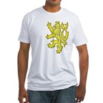 Heraldic Gold Lion Fitted T-Shirt