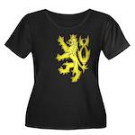 Heraldic Gold Lion Women's Plus Size Scoop Neck Da