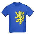 Heraldic Gold Lion Kids Dark T-Shirt