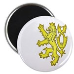 Heraldic Gold Lion Magnet