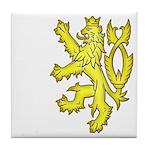 Heraldic Gold Lion Tile Coaster
