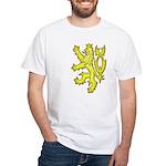 Heraldic Gold Lion White T-Shirt