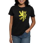 Heraldic Gold Lion Women's Dark T-Shirt