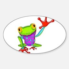 Waving Poison Dart Frog Decal