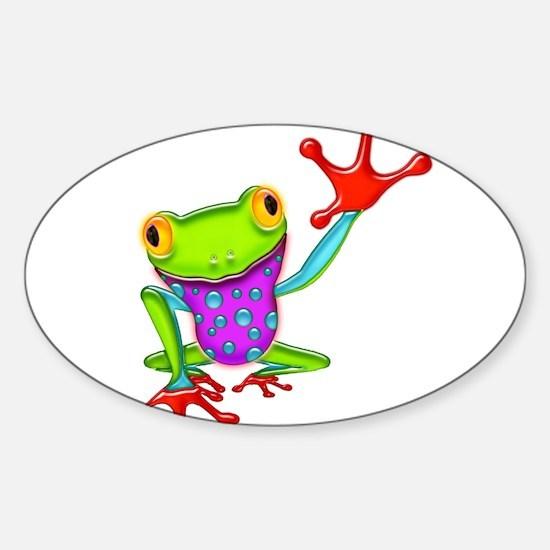 Waving Poison Dart Frog Decal