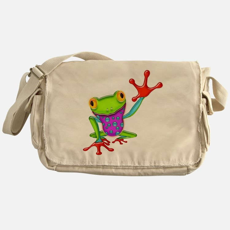 Cute Amphibians and reptiles Messenger Bag