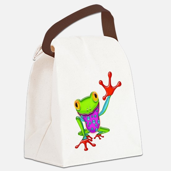 Cute Frog Canvas Lunch Bag