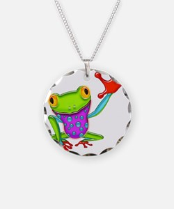 Cute Amphibians and reptiles Necklace