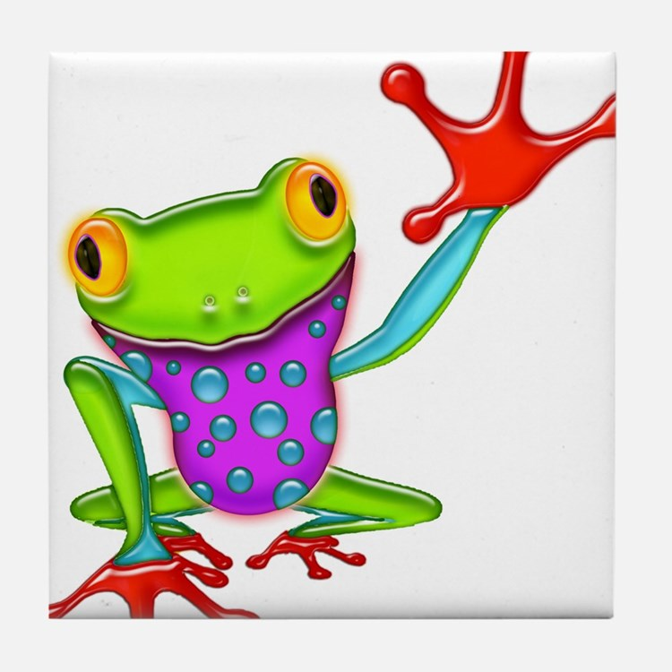 Cute Amphibians and reptiles Tile Coaster