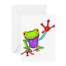 Waving Poison Dart Frog Greeting Cards