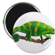 Green and Gold Chameleon on a Stick Magnets
