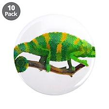 """Unique Chameleon 3.5"""" Button (10 pack)"""