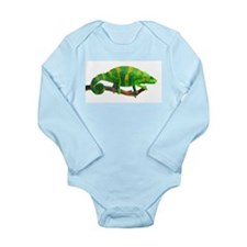 Green and Gold Chameleon on a Stick Body Suit
