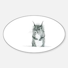 Cute Squirrel Drawing Decal