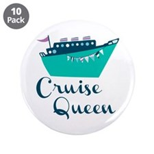 "Cruise Queen 3.5"" Button (10 pack)"