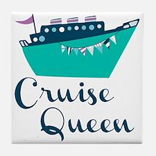 Cruise Queen Tile Coaster